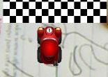 Conduite de petite voiture sur circuit chronométré