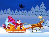 Père Noël, cadeaux et traîneau