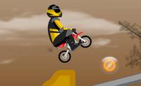 Jouer à un jeu de moto et conduire une pocket bike mini moto