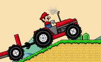 Mario bros roule en tracteur