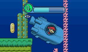 Dirige le sous-marin de Mario et collecte toutes les pièces d'or dans les profondeurs de l'océan