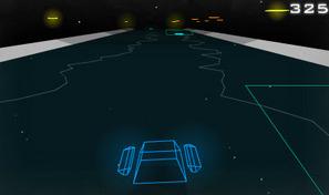 Pilote un vaisseau en 3D vectorielle et réussis des cascades sur un rythme musical