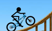 Obstacles en bicyclette pour Stickman