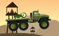 Transport d'explosifs par un camion de l'armée