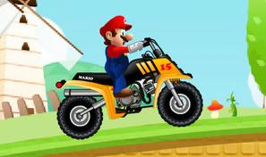 Fais du franchissement avec le quad de Mario et décroche les meilleurs temps