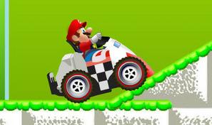 Conduis la mini-voiture de Mario capable de rétrécir pour pénétrer dans les tunnels étroits