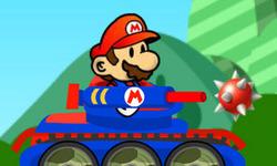 Affronte des champignons agressifs et des carapaces piquantes avec le tank de Mario