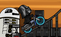 Rouler en moto avec Dark Vador
