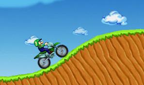 Maîtrise la motocross de Luigi et amuse-toi sur des pistes de franchissement difficiles