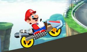 Au volant du kart de Mario