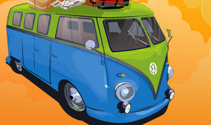 Au volant d'un combi Volkswagen