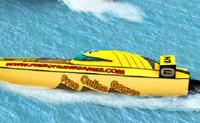 Piloter un hors-bord dans des courses rapides sur mer