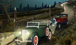 Pilote un tacot dans des courses traversant le cimetière rempli de zombies, de fantômes et de squelettes