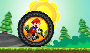 Piloter une moto à roue géante avec Mario