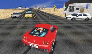 Rouler en voiture de course Ferrari pour détruire des bagnoles