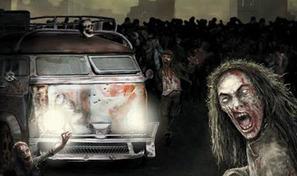 Traverse la ville contaminée au volant de ton bus et élimine les zombies avant de venir en aide aux survivants