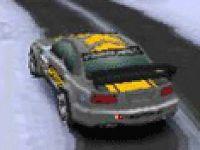 Conduire une voiture rallye