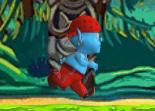 Un petit bonhomme bleu s'échappe dans la jungle