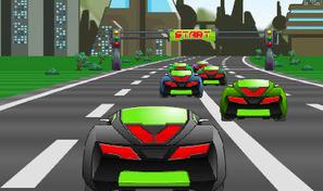 Gagne le championnat de voitures de course futuristes