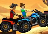 Des cowboys motards sur des quads