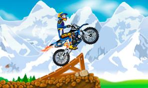 Joue au pilote de motocross et essaie des figures aériennes dangereuses