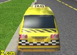 Au volant d'un taxi de course jaune