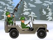 Au volant d'une jeep militaire de l'US Army
