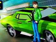 ben10 fait des drifts en voiture de course jeu de. Black Bedroom Furniture Sets. Home Design Ideas