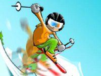 Saute sur des bosses à ski