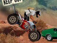 Moto Quad 4 roues motrices dans le désert