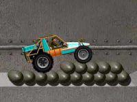 Pilote de buggy fuyant les tirs ennemis