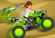 Tirer sur les aliens en moto armée avec Ben 10