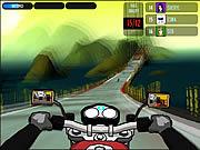 Course sur route au guidon d'une moto