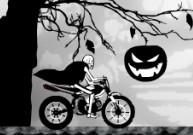 Pilotage rapide de moto avec un squelette