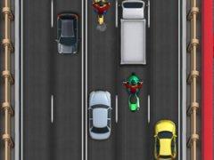 Roule à toute vitesse sur l'autoroute au trafic surchargé et saute d'un véhicule à un autre
