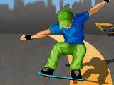 Skater de ville en planche à roulettes