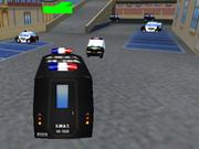Parquer un véhicule de police au commissariat