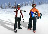 Parcours en 3D de ski et snowboard