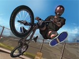 Cascadeur sur vélo cross BMX