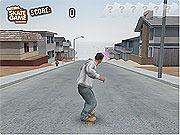 Rouler en skate dans les rues d'une agglomération