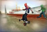 Défi en skate avec rampes