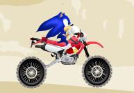 Motocross de Sonic en plein désert