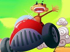 Mets-toi dans la peau d'un singe et conduis un kart dans la savane en évitant les dangers et en réussissant des cascades