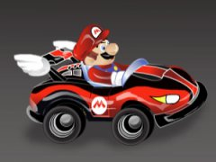 Prends le volant du coupé sportif de Mario et affronte Peach, Yoshi et Luigi dans des courses en ligne droite parsemées de bonus