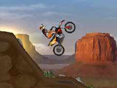 Prends le guidon d'une motocross et franchis les terrains difficiles des plus beaux environnements des USA
