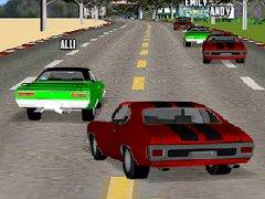 Fais des courses de Muscle Car à gros moteur V8 dans les plus grandes villes des Etats-Unis