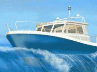 Bateaux de course dans l'océan