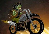Un zombie pilote une bécane