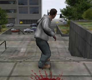 Skateur cascadeur de rue